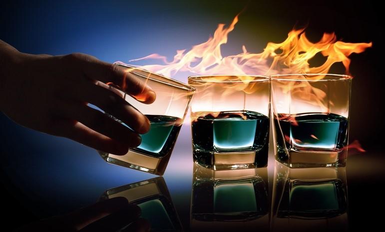 С горящим спиртным без пожарных не разобраться