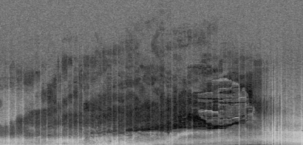 Вид объекта на сонаре