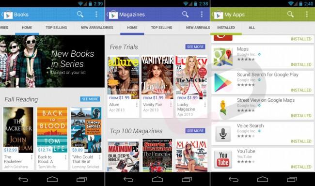 Первые скриншоты нового Google Play