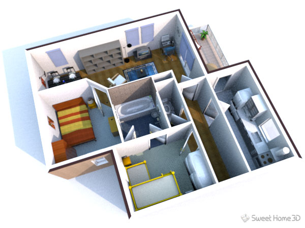 Программа для дизайна интерьера Sweet Home 3D