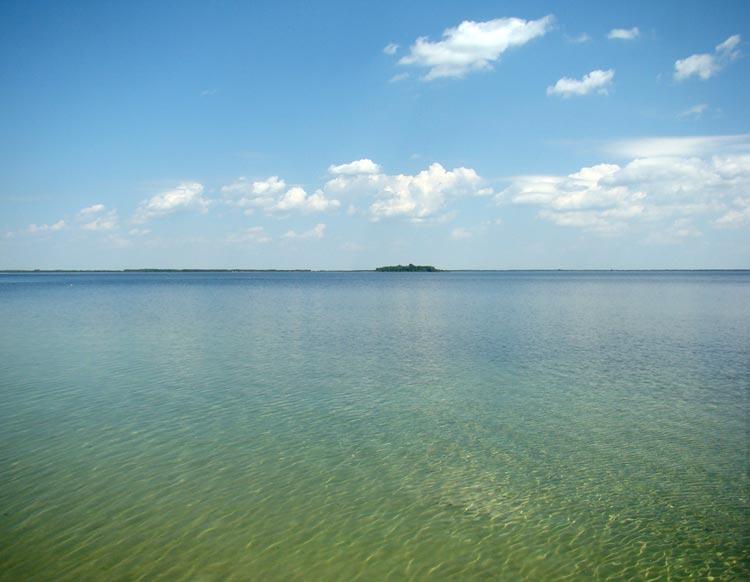 На озере Свитязь можно рыбачить, кататься на катамаранах, и любоваться природой
