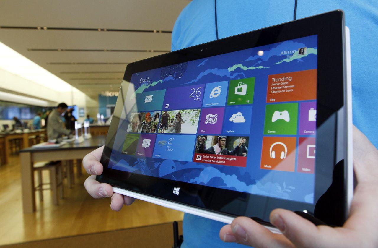 Microsoft Surface Pro работает под управлением Windows 8 Pro