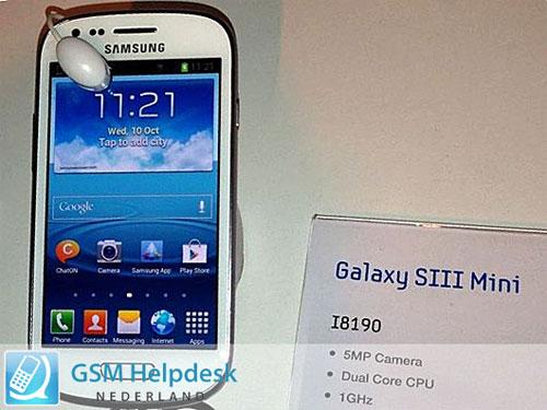 Galaxy S 3 Mini - подлинное фото