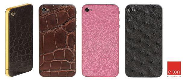 iPhone с корпусом из кож страуса, ската и змеи