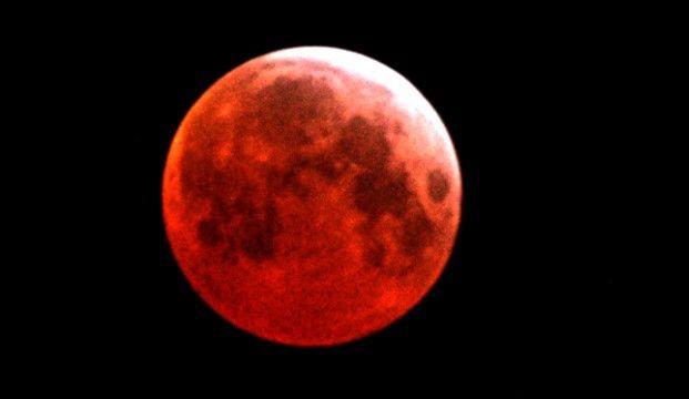 Луна окрасится в красный цвет