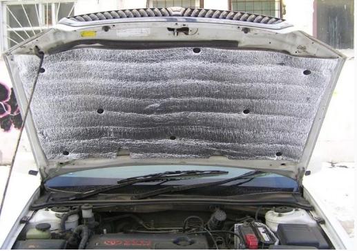Мотор утепляют, прикрепляя специальный теплоизоляционный материал