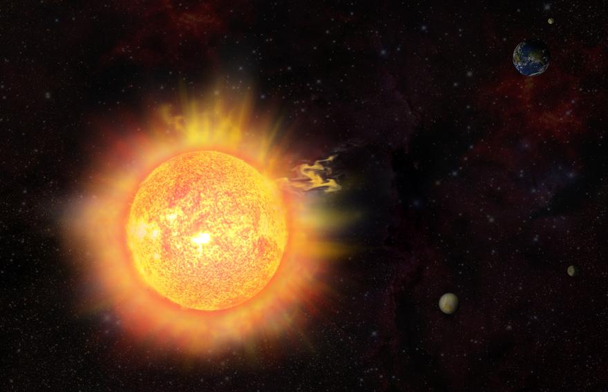 Вспышки на Солнце могут вызвать магнитную бурю и полярные сияния