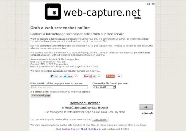 Страница Web-capture.net