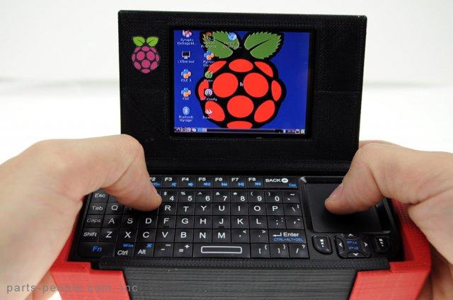 Pi-to-Go - миниатюрный ноутбук распечатанный на 3D-принтере