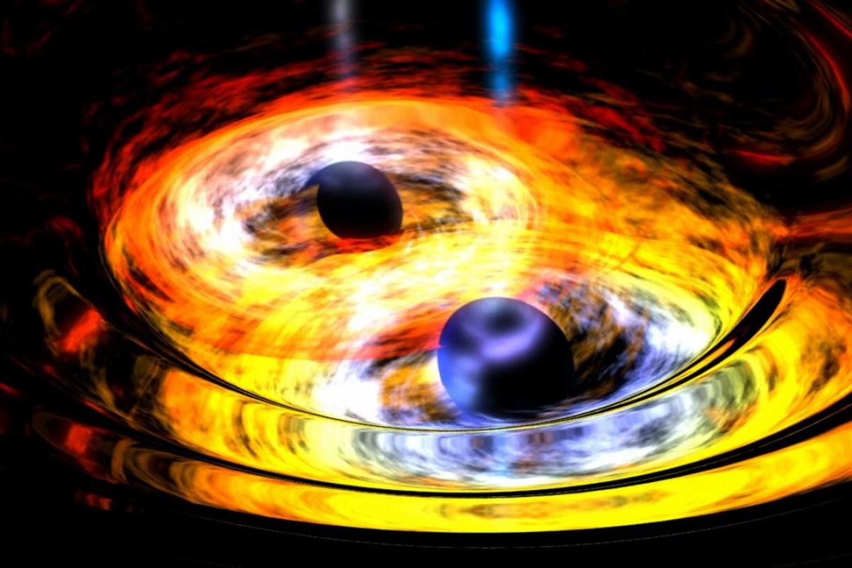 Две черные дыры уничтожили звезду