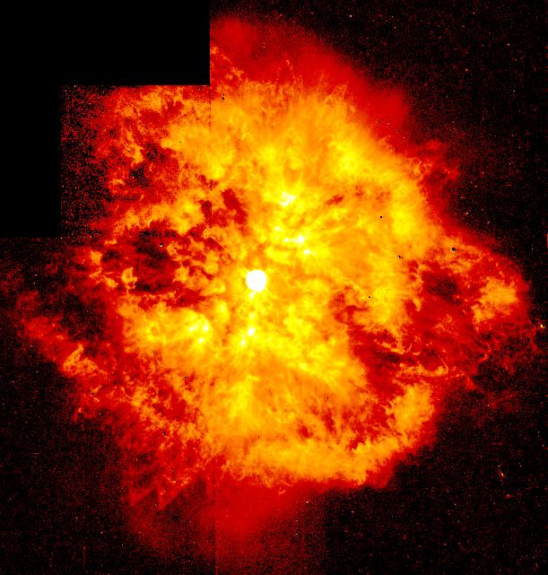 Композитный образ энергичного взрыве звезды