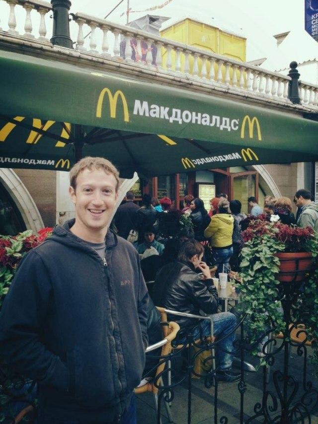Основатель Facebook зашел в МакДоналдс