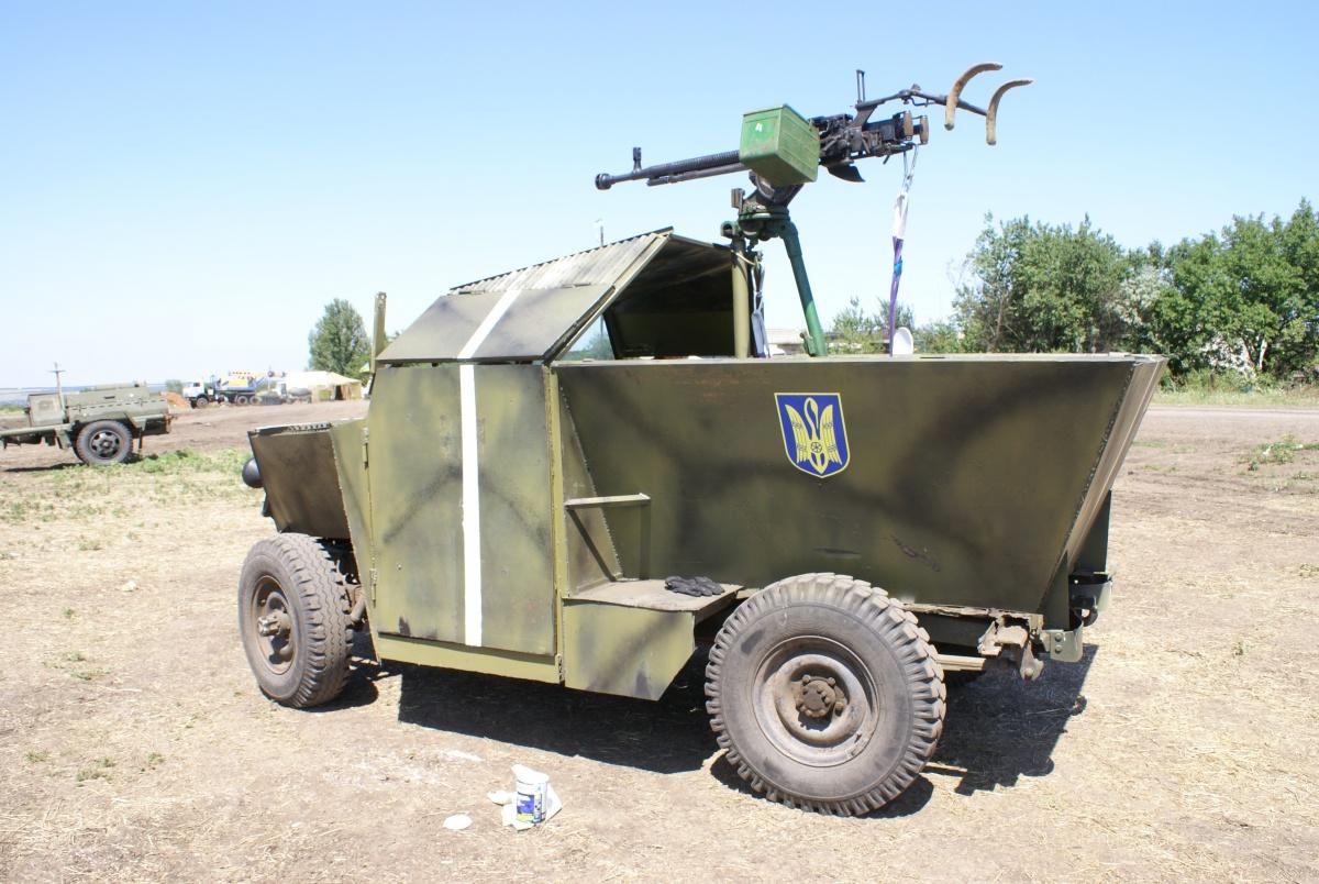 Самодельный броневик Скорпион из зоны АТО отправили в музей - Автоновости  Украины и мира - Авто - bigmir)net - Авто bigmir)net