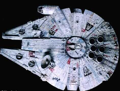 Объект похож на корабль Хана Соло из Звездных войн