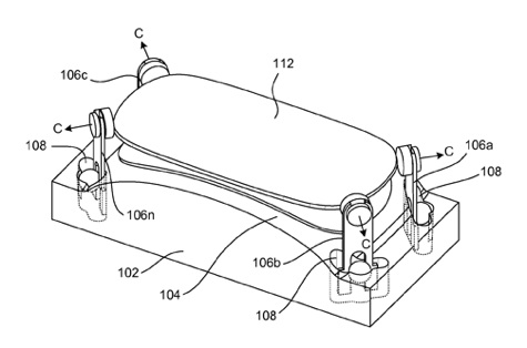 Так выглядит рисунок из патентной заявки Apple на изогнутый дисплей