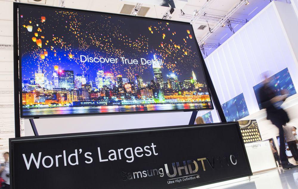 Самый большой телевизор UHDT от Samsung