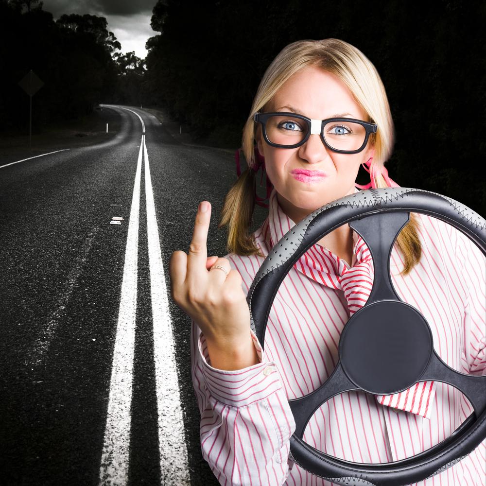 Пример того, как не следует вести себя за рулем