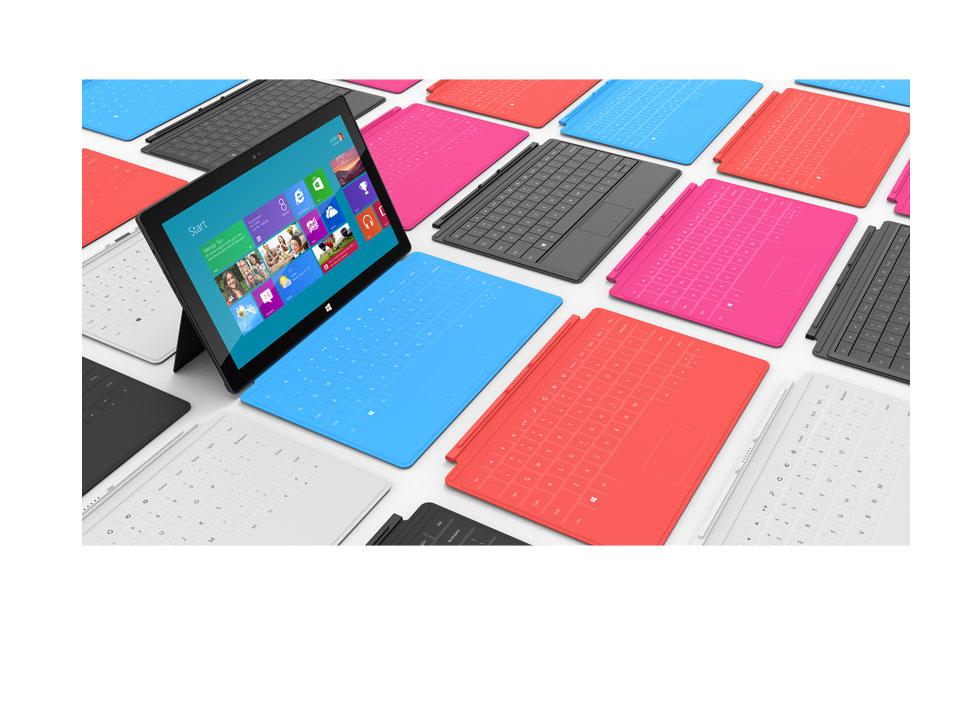 Surface: разноцветная поверхность от Microsoft