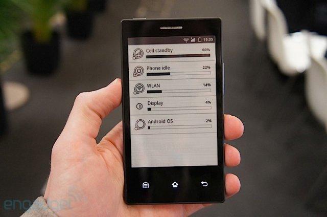 Смартфон от E-ink с долгим зарядом батареи: пример расхода батареи