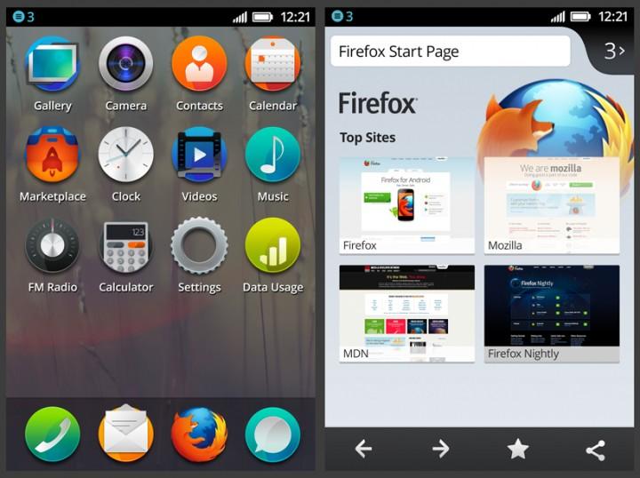Интерфейс FireFox OS