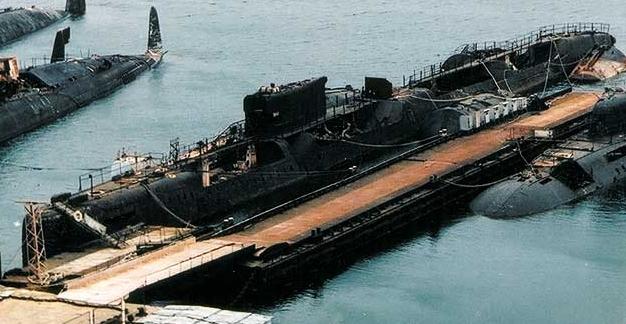 Та самая подводная лодка «К-431» на отстое в бухте Павловского