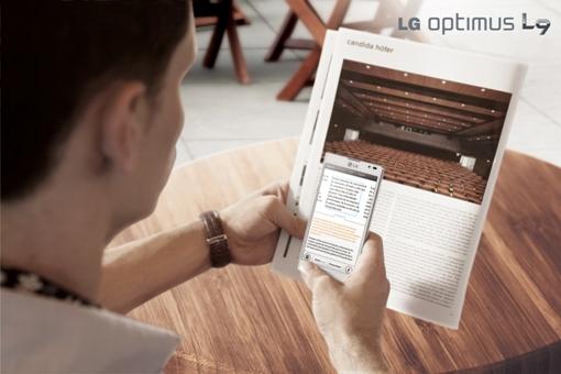 Optimus L9 может переводить текст