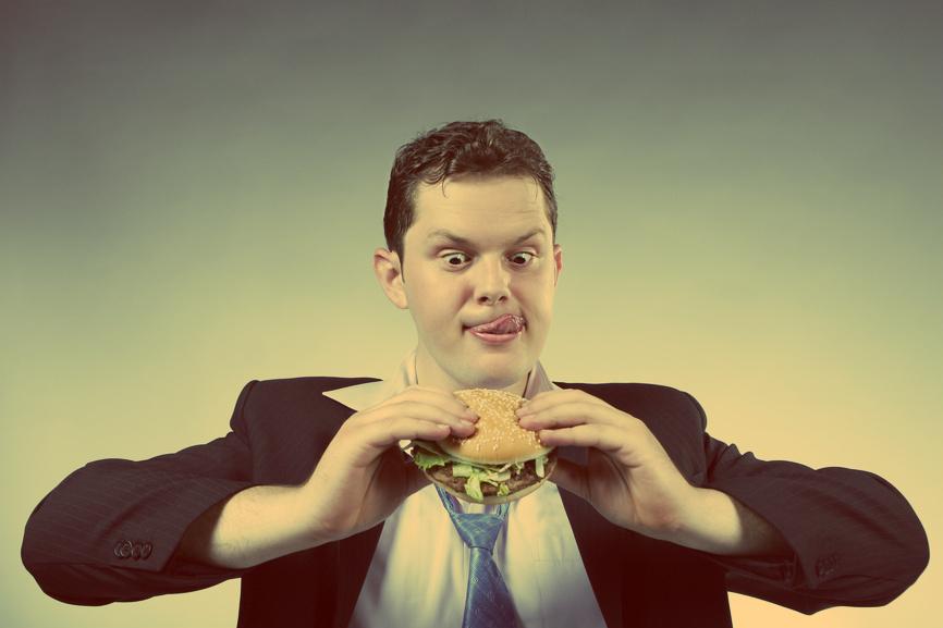 Деловых мужчин тоже беспокоит голод и желание быстро похудеть
