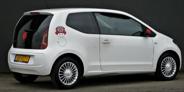 VW Up BlueMotion Technology high up!