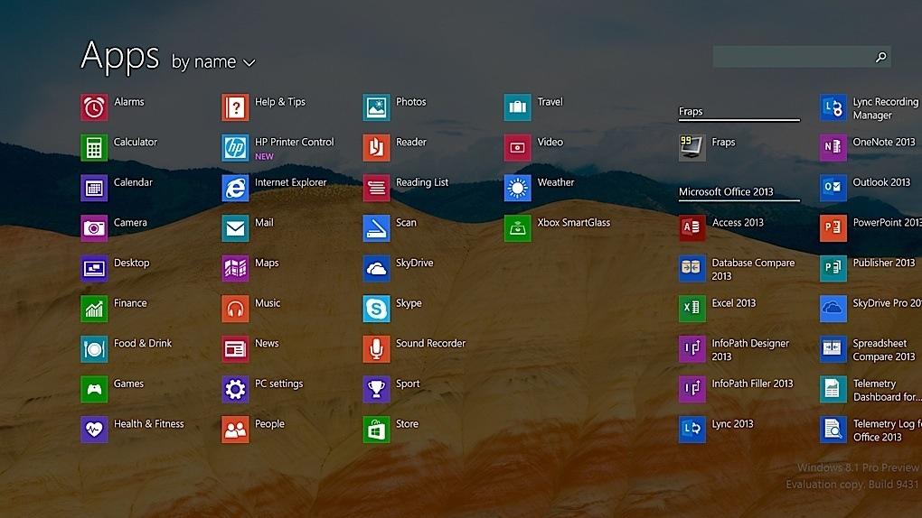 Скриншот Windows 8.1
