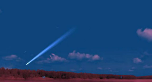 Комета уже видна в любительские телескопы
