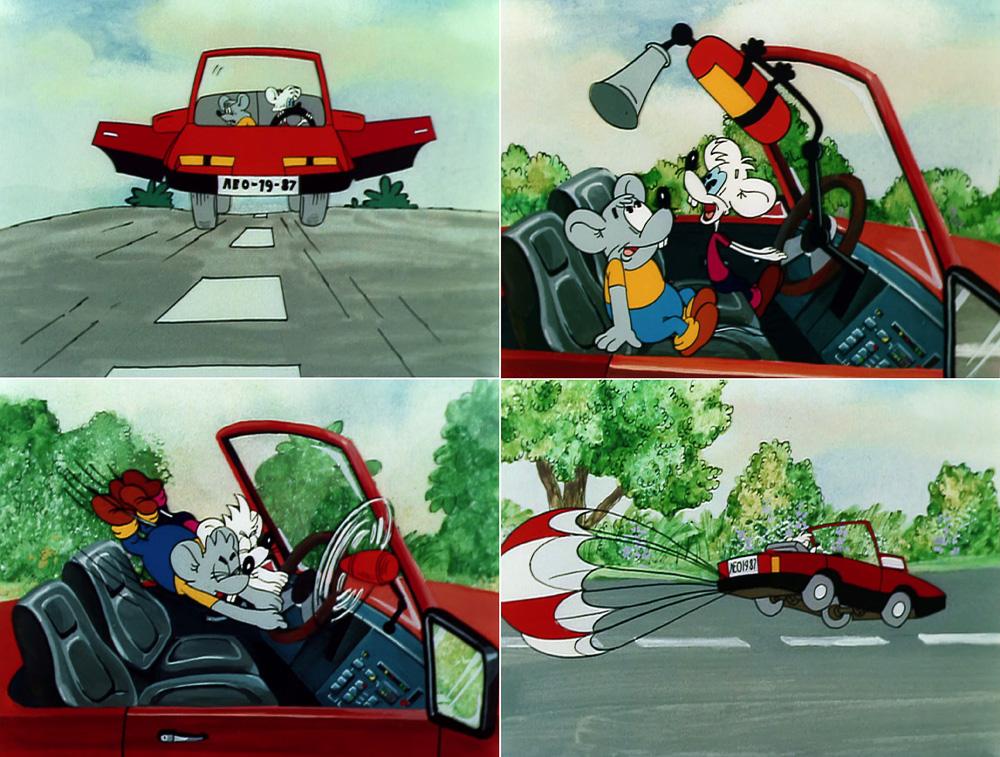 Мультфильм автомобиль кота леопольда