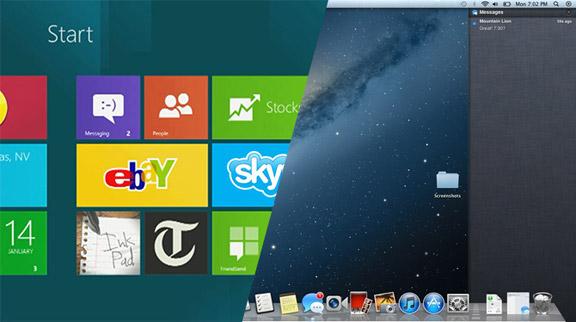 Windows 8 vs Mac OS X Lion
