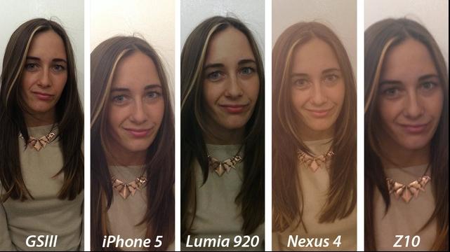 Обычная фотография в помещении. Лучшие результаты оказались у Galaxy S III и Lumia 920 - фотография четкая и с ествественной цветопередачей. Результат снимка Nexus 4 не выдерживает критики. У Z10 фотография немного смазана получилась. Более менее хорошая фотография получилась у iPhone 5.
