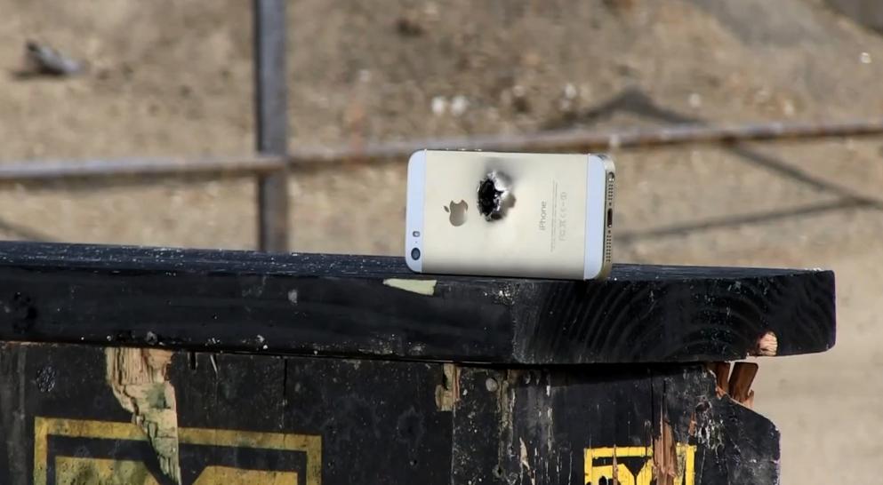 Результат тестирования: iPhone 5S не выдерживает попадание пули