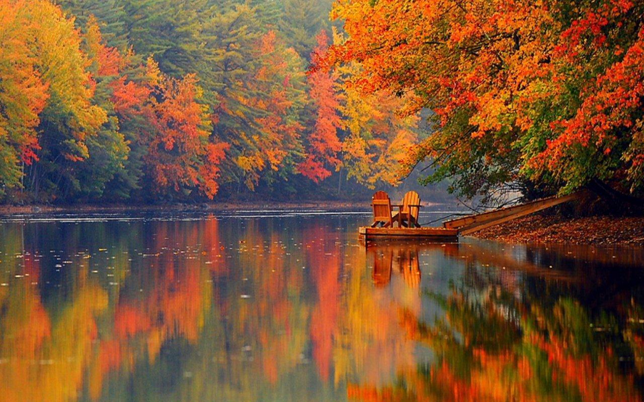 Осенью леса штата Мэн превращаются в сказку