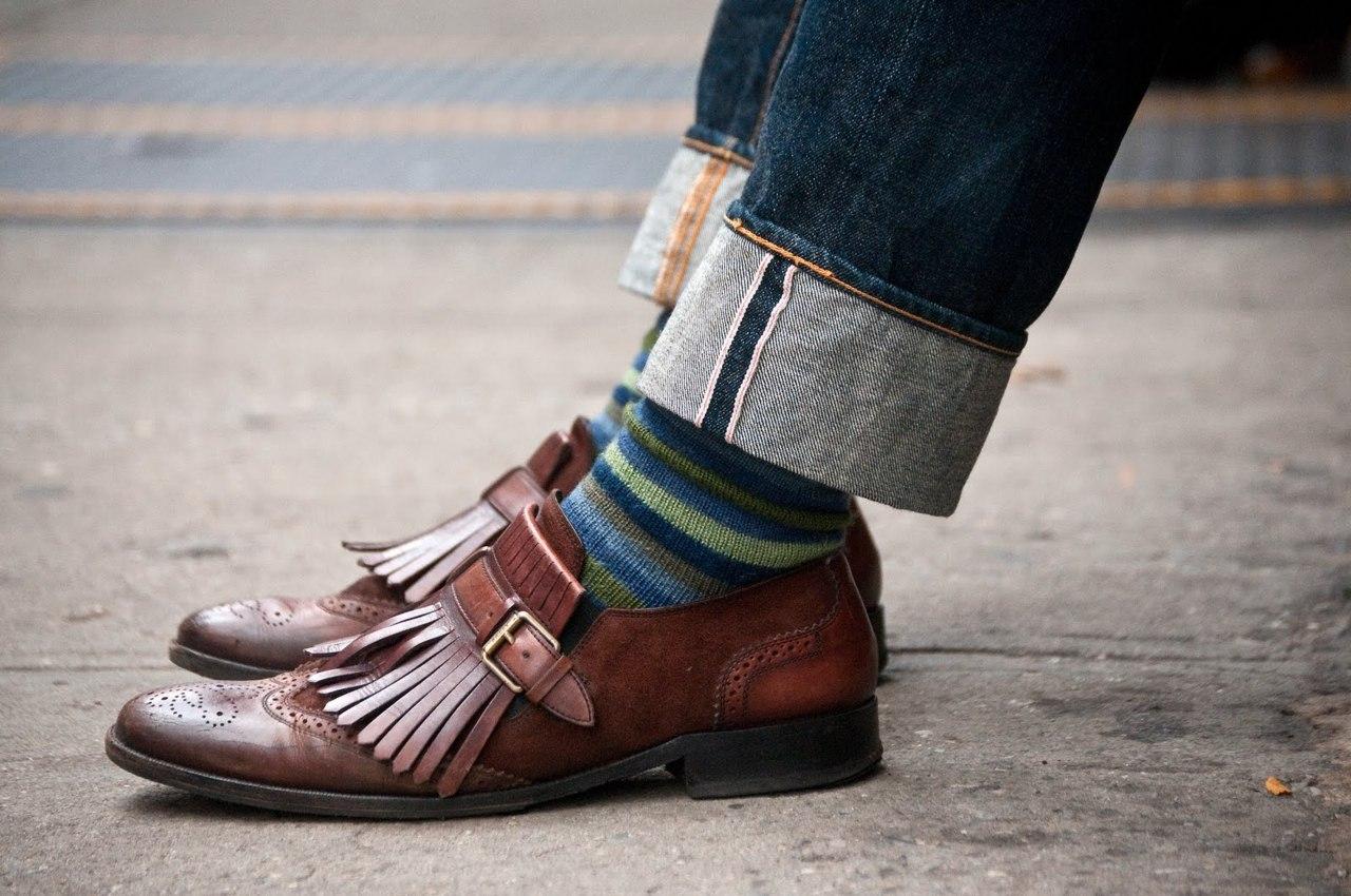 Подбирай носки в соответствие штанам, а не обуви