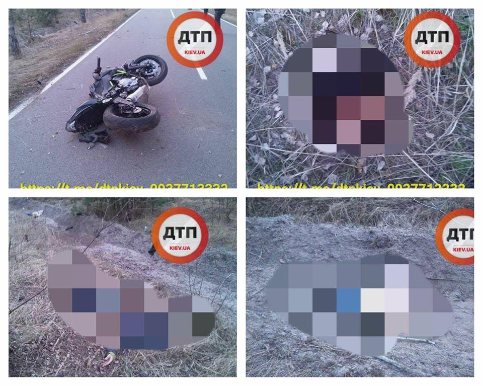 В пригороде Киева погиб мотоциклист и его пассажирка