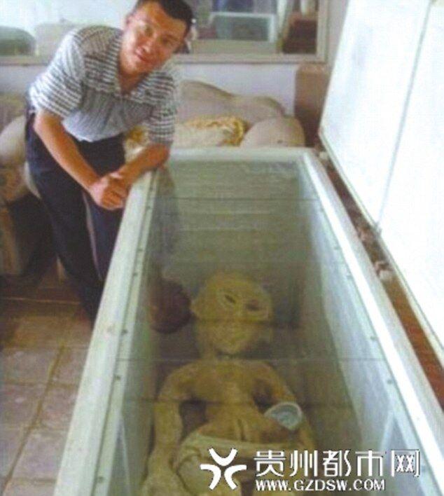 Мужчина нашел пришельца после крушения НЛО