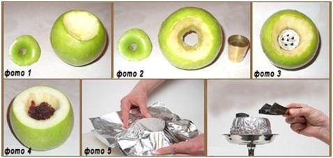 Как правильно сделать яблоко для кальяна