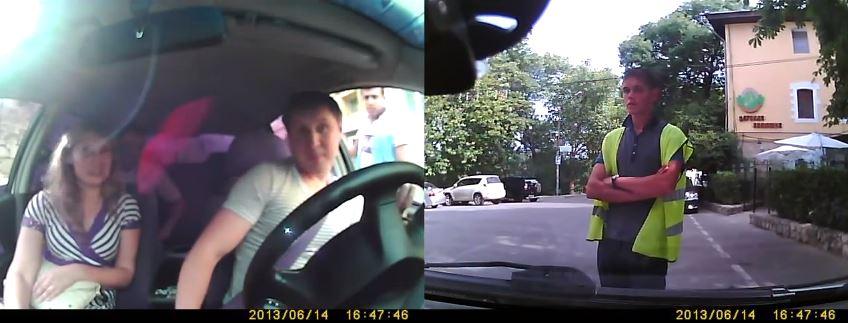 Машину водителя, который отказался платить, заблокировали