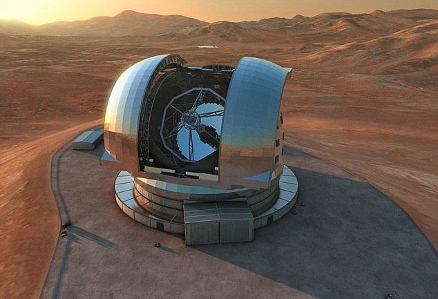 Размер одного зеркала телескопа — 39 метров.