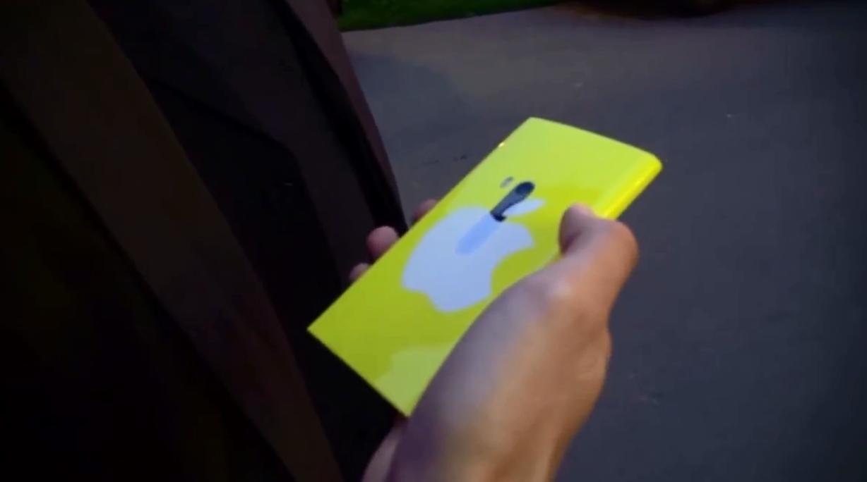 Схожесть с iPhone 5C напоминает только логотип Apple