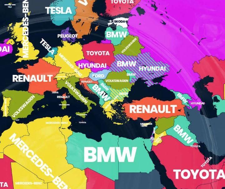 Популярные запросы в Украине - BMW и Hyundai