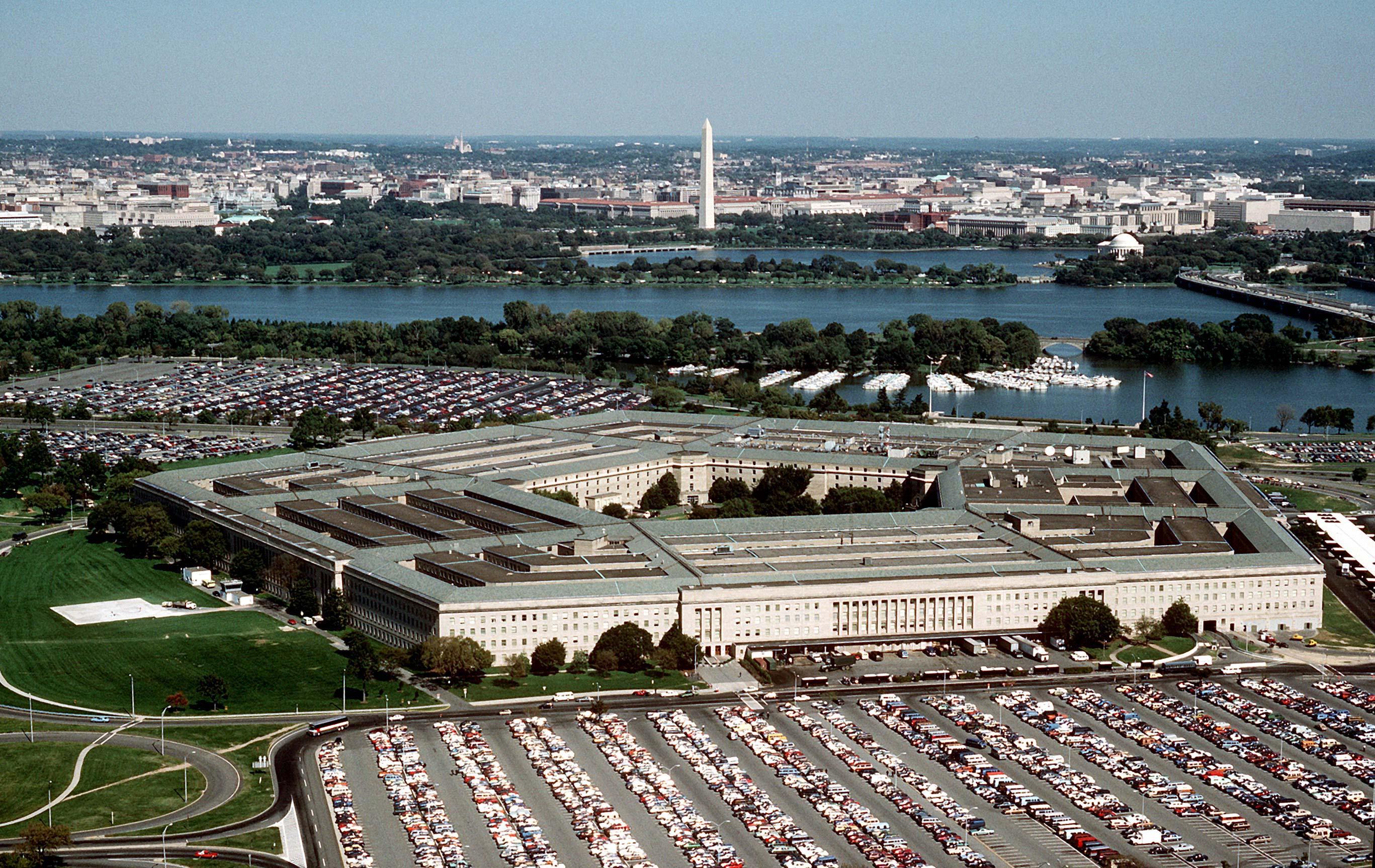 Сверху здание Пентагона напоминает звезду