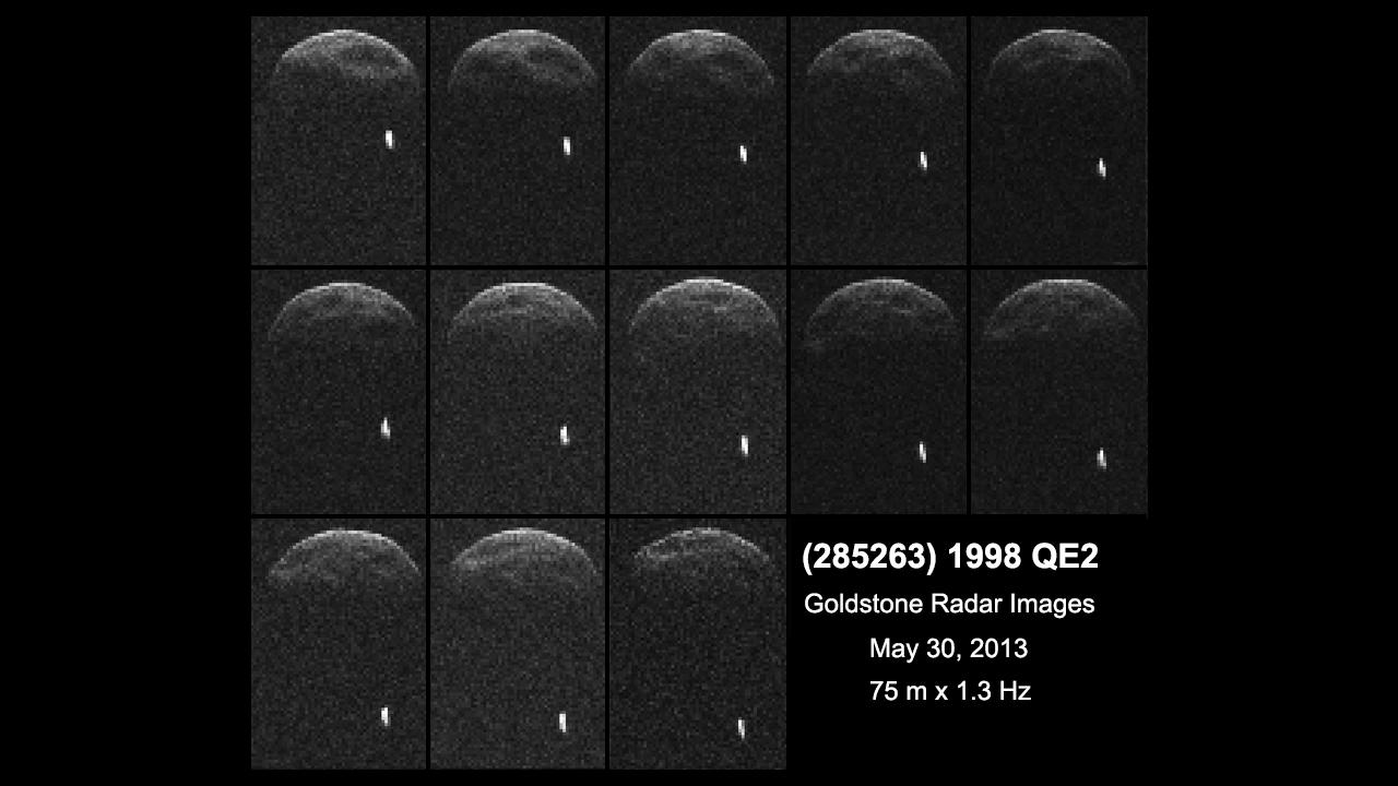 Пролет астероида на фоне Луны