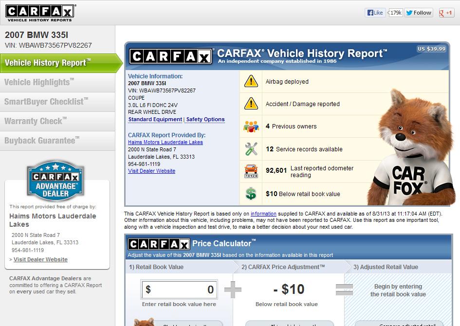 Большое преимущество в том, что есть возможность надежно проверить историю авто