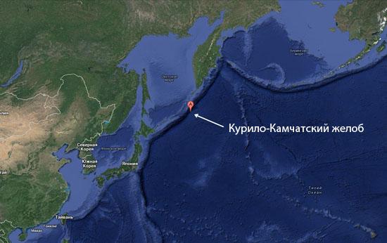 Курило-Камчатский желоб считается самым узким в Тихом океане