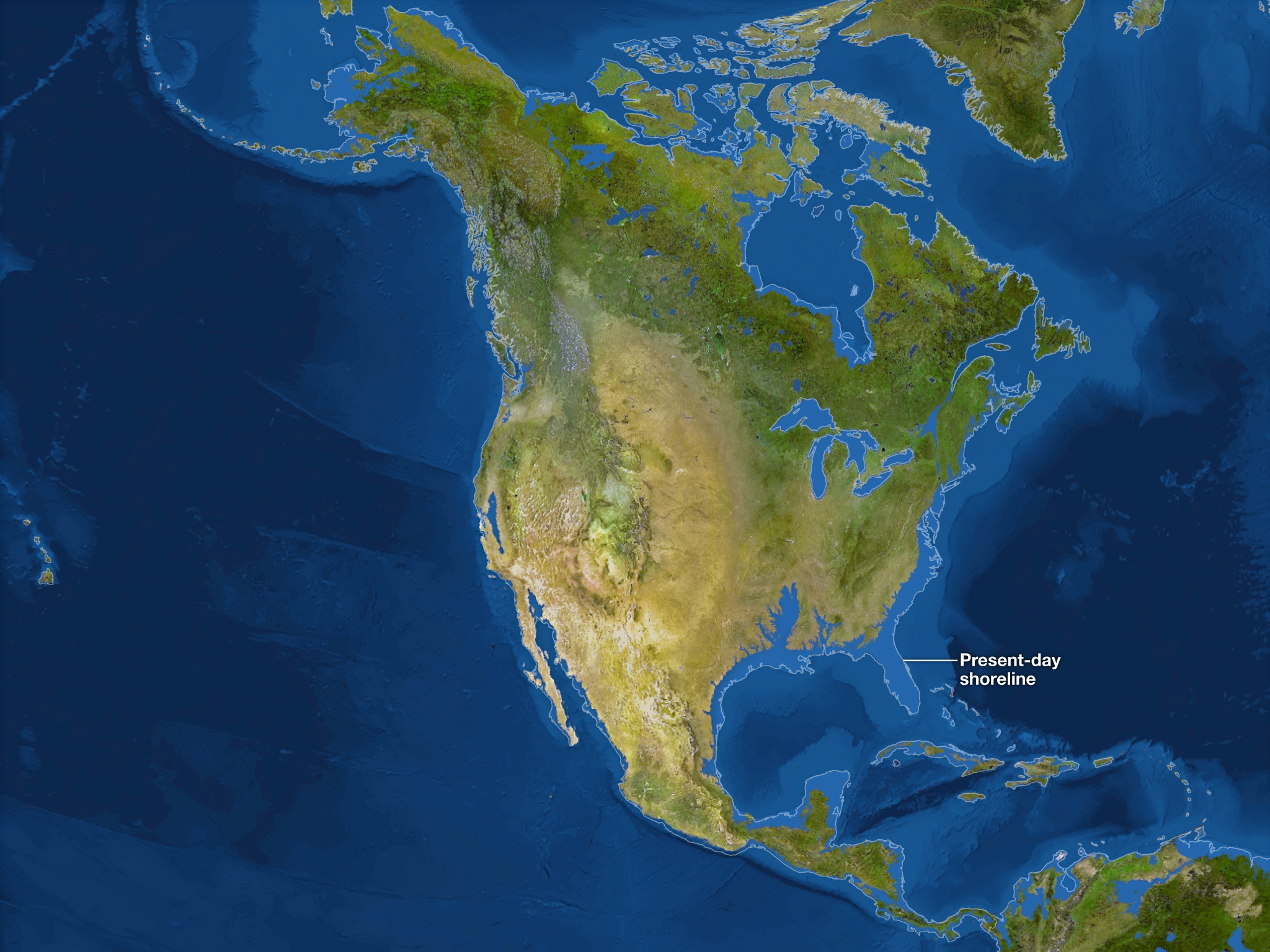 Юго-восток Северной Америки исчезнет