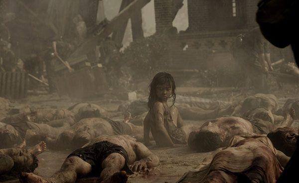 Кадр из фильма Землетрясение, по событиям Таншаньского землетрясения