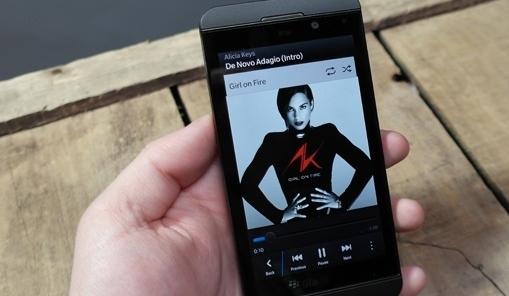 BlackBerry переключение музыки